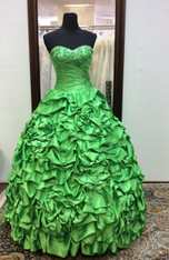 Vizcaya by Mori Lee Quinceanera Dress 87086, Lime Green, Size 4 on SALE