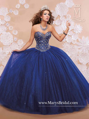Princess by Mary's Quinceanera Dress 4Q375, Palace Royal Blue, Size 8 on SALE