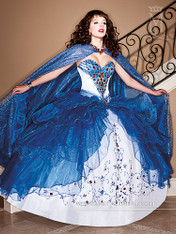 Princess by Mary's Quinceanera Dress 4Q983, Royal, Size 8 on SALE