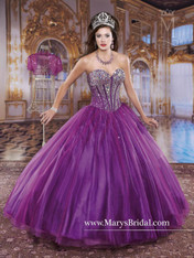Princess by Mary's Quinceanera Dress 4Q903, Purple, Size 10 on SALE