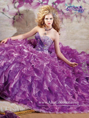 Alta Couture by Mary's Quinceanera Dress 4T109, Orchid/Purple, Size 10 on SALE