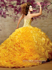 Alta Couture by Mary's Quinceanera Dress 4T107, Canary Yellow, Size 10 on SALE