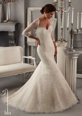 Blu by Mori Lee Bridal Dress 5275 Ivory Size 12 on Sale