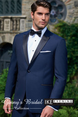 "Ike Behar Evening Navy ""Blake"" Slim Fit Tuxedo - Rental"