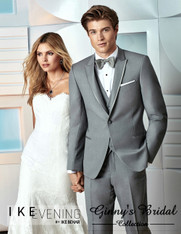 "Ike Behar Evening Grey ""Chelsea"" Slim Fit Tuxedo - Rental"