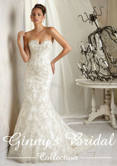 AF Angelina Faccenda Couture by Mori Lee Wedding Dress 1284 Ivory Size 12 on Sale