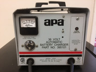 APA  BATTERY CHARGER IN: 120 VAC OUT: 36 VOLT, 20 AMPS