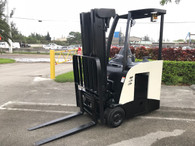 2010 Crown Electric Forklift RC5530-30, Dockstocker, Narrow Aisle