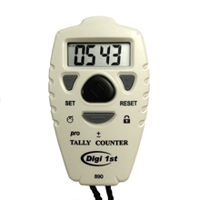 Digi 1st TC-890 Digital Doorman/Pitch Tally Counter. This digital counter is perfect for counting in and out. With the separate up/down buttons,  this counter clicker can count anything very easily.