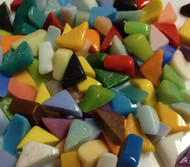 Triangle Marble Mosaic Tile Mix 4 oz