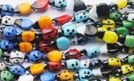 "11"" Colorful Glass Ladybug Strand (approx. 19 pcs.)"