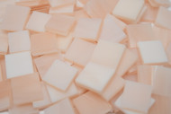 Bulk Discount - Champagne Swirl Stained Glass Mosaic Tiles