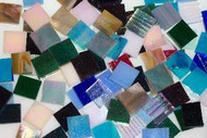 Iridescent Mix Stained Glass Mosaic Tiles