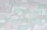 "1/2"" x 3/4"" White Opal Iridescent Stained Glass Mosaic Tiles (70 tiles)"