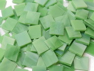 Bulk Discount - Grassy Green Wispy Stained Glass Mosaic Tiles