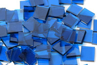 Bulk Discount - Deep Aqua Waterglass Stained Glass Mosaic Tiles