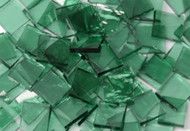 Bulk Discount - Sea Green Rough Rolled Stained Glass Mosaic Tiles