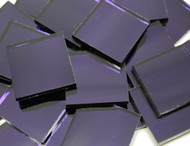"3/4 "" x 3/4"" Ultra Violet Purple Waterglass Mirror Stained Glass Mosaic Tiles (40 tiles)"