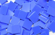Bulk Discount - Medium Blue Opal System 96 Stained Glass Mosaic Tiles