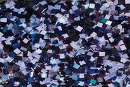 Purple Mix Stained Glass Mosaic Tiles