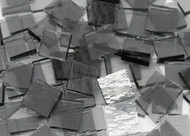 Bulk Discount - Pale Gray Rough Rolled Stained Glass Mosaic Tiles