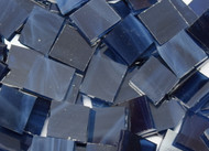 Bulk Discount - Navy Blue Wispy Stained Glass Mosaic Tiles