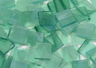 Bulk Discount - Sea Green Wispy Stained Glass Mosaic Tiles