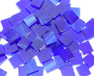 "1/2"" x 1/2"" Dark Blue & White Stained Glass Mosaic Tiles (100 tiles)"