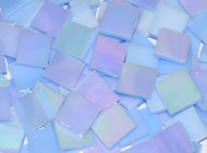Periwinkle Blue Iridescent Stained Glass Mosaic Tiles