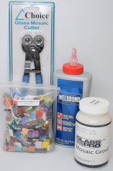 Mosaic Tile Art Starter Kit:  Weldbond Glue, Nippers, Grout & Tiles!