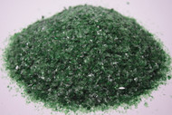 4 oz Dark Green 96 COE Glass Frit, Size:  Medium