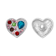 1 Heart Rhinestone Snap Button Embellishment