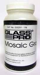 1 lb. GLASS PRO Stained Glass Mosaic Grout - IVORY WHITE