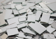 HUGE SALE:  SILVER MIRROR JUMBLED MIX - TWO POUNDS mosaic tiles - Save $15!