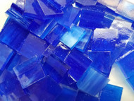 Vivid Blue Stained Glass Mosaic Tiles