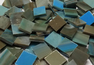 Bulk Discount ~ Olive Sky Stained Glass Mosaic Tiles