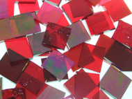 BULK DISCOUNT:  Red Mix Stained Glass Mosaic Tiles