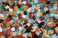 Earth Tones Mix Stained Glass Mosaic Tiles