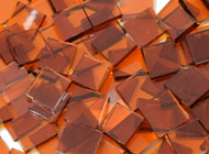 Medium Amber Waterglass Stained Glass Mosaic Tiles