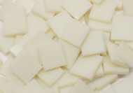 "1/2"" x 1/2"" Ivory Opal Stained Glass Mosaic Tiles (100 tiles)"