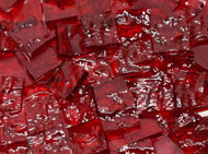 "1"" x 1"" Ruby Red Granite Stained Glass Mosaic Tiles (25 tiles)"