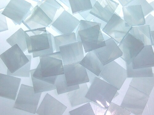 Clear Amp White Wispy Stained Glass Mosaic Tiles Mosaic