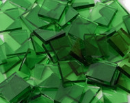 "1/2"" x 1/2"" Leafy Green Artique Stained Glass Mosaic Tiles (100 tiles)"