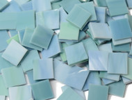 Seafoam Green & Blue Stained Glass Mosaic Tiles