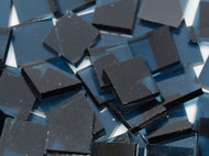 "1/2"" x 1/2"" Steel Blue Artique Stained Glass Mosaic Tiles (100 tiles)"