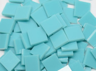"3/4"" x 3/4"" Turquoise Green Opal System 96 Stained Glass Mosaic Tiles (40 tiles)"
