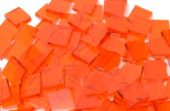 "1"" x 1/4"" Orange Translucent Stained Glass Mosaic Tiles (50 tiles)"