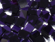 "CLOSEOUT SALE:  1"" x 1"" Grape  Artique Stained Glass Mosaic Tiles (25 tiles)"