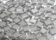 HALF PRICE SALE!! Disco Ball Silver Mirror Hand Cut Glass Mosaic Tiles (See note on thickness)