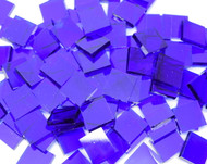 Blazing Blue Artique Stained Glass Mosaic Tiles